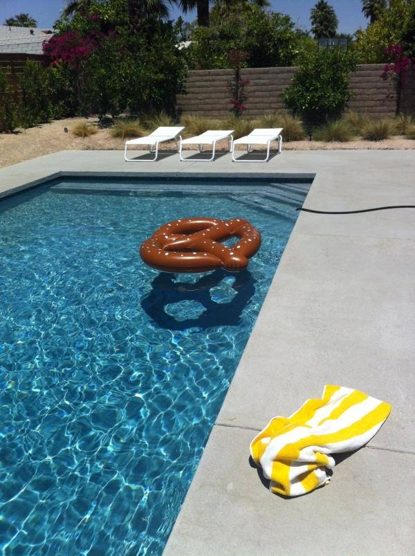 pool with pretzel
